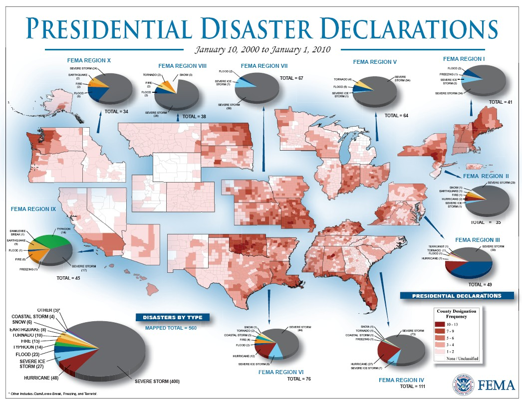 American Red Cross Maps And Graphics - Us map divided into 4 regions