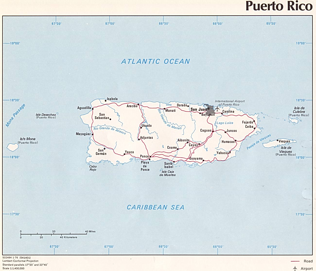 American Red Cross Maps And Graphics - Puerto rico cities towns map