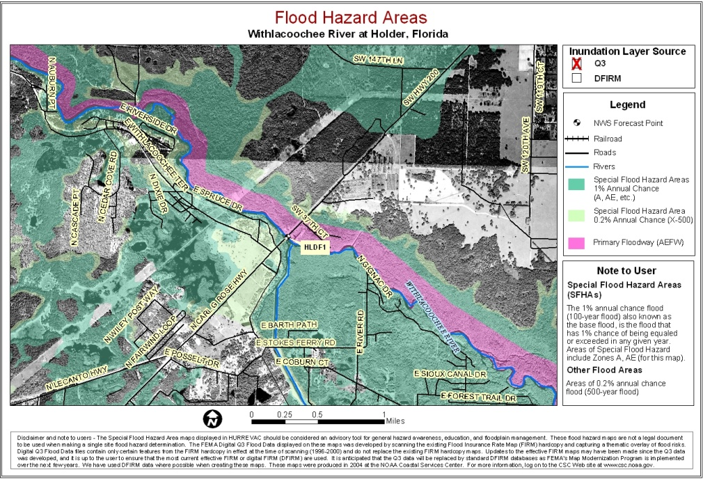 State Level Maps - Florida flood plain map